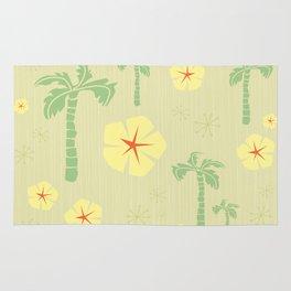 Midcentury Tiki Print Hawaii Retro Vintage Rug