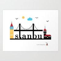 istanbul Art Prints featuring Istanbul.  by Irmak Berktas