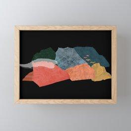 Birds fly away (black) Framed Mini Art Print