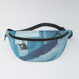 Whales and cities Fanny Pack
