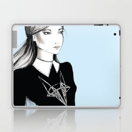 Lady blue. Laptop & iPad Skin