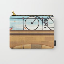 Holland Bicycle travel poster Carry-All Pouch