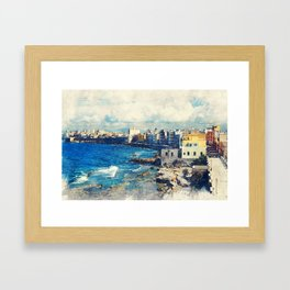 Trapani art 19 Sicily Framed Art Print