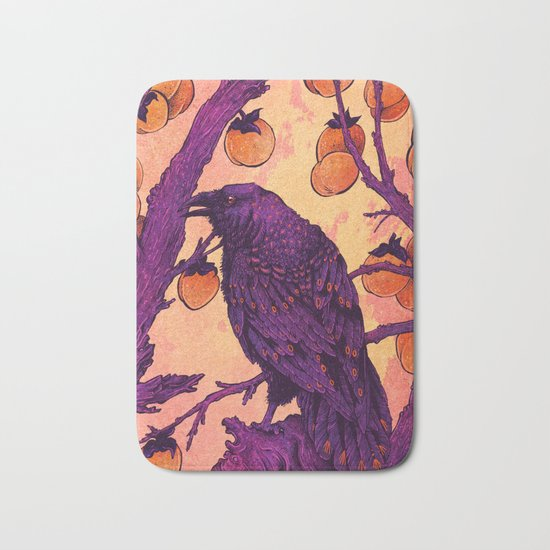 Raven and Persimmons Bath Mat