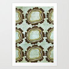 Gold & Green Art Print