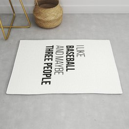 Baseball Funny Quote Rug