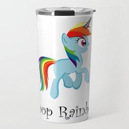 I Poop Rainbows Travel Mug