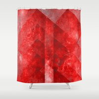 vagina Shower Curtains featuring Ruby Nebulæ by Aaron Carberry