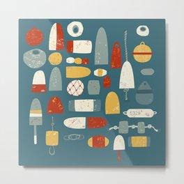 Fishing Floats Metal Print