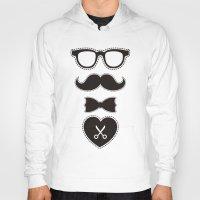 mustache Hoodies featuring Mustache by solomnikov