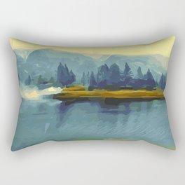 Misty River Island Rectangular Pillow