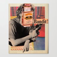 tequila Canvas Prints featuring Tequila Bandit by Alicia Ortiz