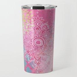 Colorful Mehndi Mandala Doodle Travel Mug
