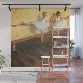 Edgar Degas - Dancers Practicing at the Barre (new color editing) Wall Mural