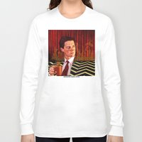 twin peaks Long Sleeve T-shirts featuring Twin Peaks  by Magdalena Almero