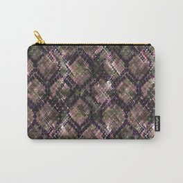 The pattern of snake skin. Carry-All Pouch