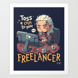 Freelancer of Blaviken Art Print