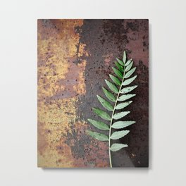 Pepper on Rust Metal Print