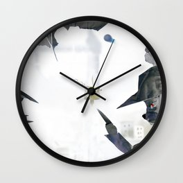 Time a rabbit and a cat Wall Clock