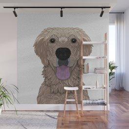 Golden Labrador Retriever Portrait Wall Mural