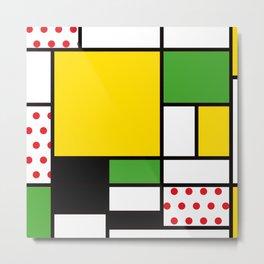 Mondrian – Bycicle Metal Print