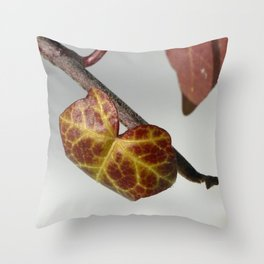 Red and yellow on the vine Throw Pillow