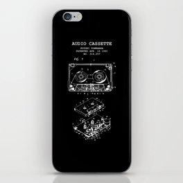Retro Musik Kassette Skizze Vintage Audio Zeichnung iPhone Skin