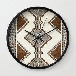 Luri Gabbeh  Antique Fars South West Persian Rug Print Wall Clock