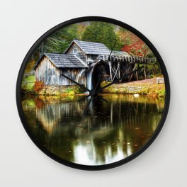 Mabry Mill Autumn Wall Clock