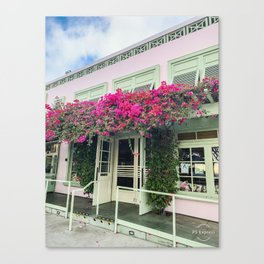 Pink storefront in Santa Monica Canvas Print