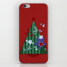 stars and stripes - christmas edition iPhone & iPod Skin