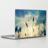carpe diem Laptop & iPad Skins featuring Carpe Diem by Sandra Arduini