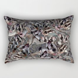 Sugar Glider Collage, art effect. Rectangular Pillow