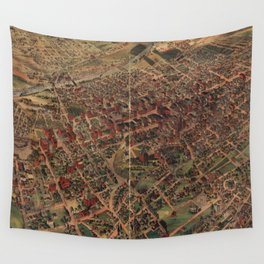 Vintage Pictorial Map of Los Angeles (1891) Wall Tapestry