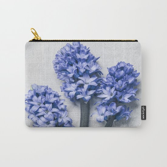Three Blue Hyacinths Carry-All Pouch