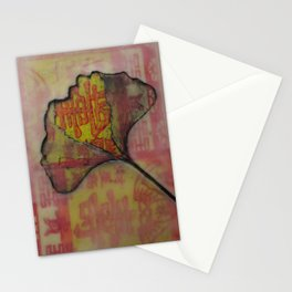 Ginko on Red and Gold Stationery Cards