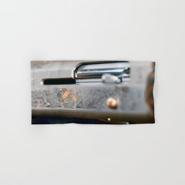Hunting shotgun Close up. Duck Hunting. Hand & Bath Towel