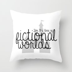 CUSTOM ORDER -- For the love of fictional worlds. Throw Pillow