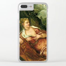 """Tintoretto (Jacopo Robusti) """"The Meeting of Tamar and Juda"""" Clear iPhone Case"""