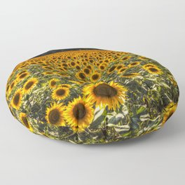 Sunflower Fields Of Dreams Floor Pillow