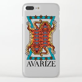 AVZ-WH-TIGER Clear iPhone Case