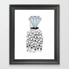 I GOTTA BIG DIAMOND  Framed Art Print
