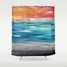 Seascape #5 Shower Curtain