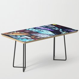 Foliage watercolor painting art Coffee Table