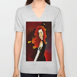 Clary Fray from The Mortal Instruments by Cassandra Clare Unisex V-Neck