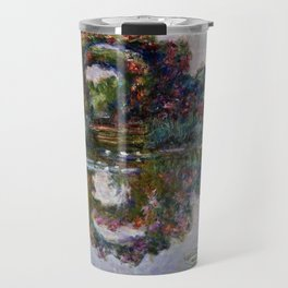 Claude Monet  -  The Artists Garden At Giverny Travel Mug