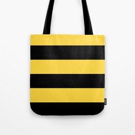 Even Horizontal Stripes, Yellow and Black, XL Tote Bag