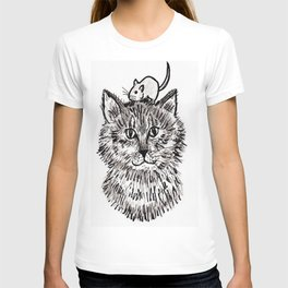 Grey Kitty and a Mouse T-shirt