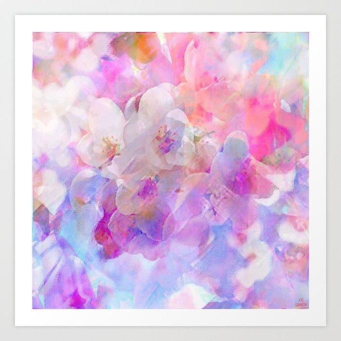 Les fleurs du bien Art Print