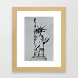 Title:The Statue Of Liberty Sketch Framed Art Print